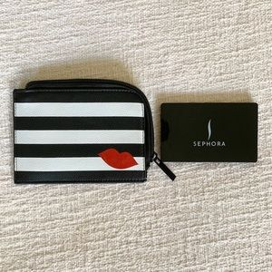 Sephora | Striped Compact Pouch and Mirror Set